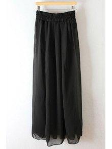 Pleated High Waisted Chiffon Long Skirt