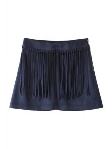 Solid Color Faux Suede Women's Shorts