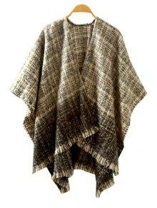 Ombre Color Half Sleeve Cardigan