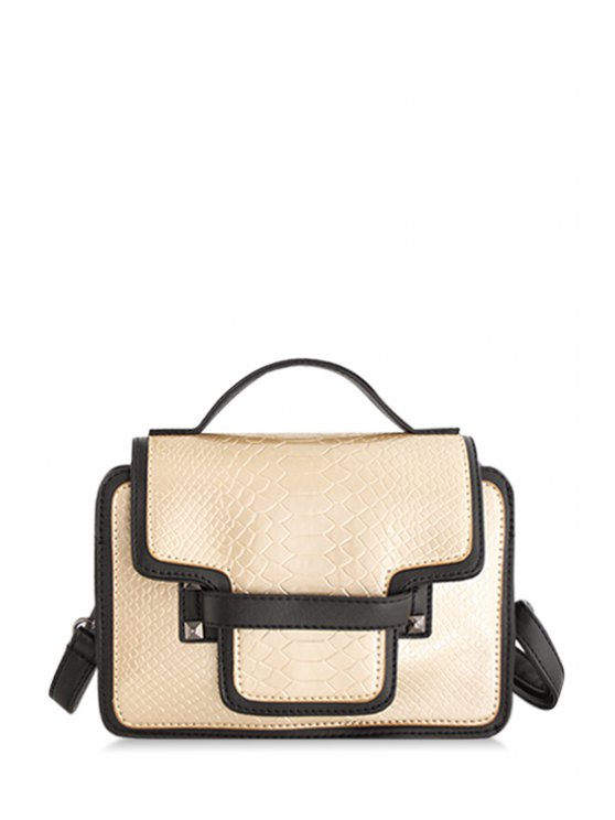 outfits Rivet Embossing Cover Tote Bag - GOLDEN