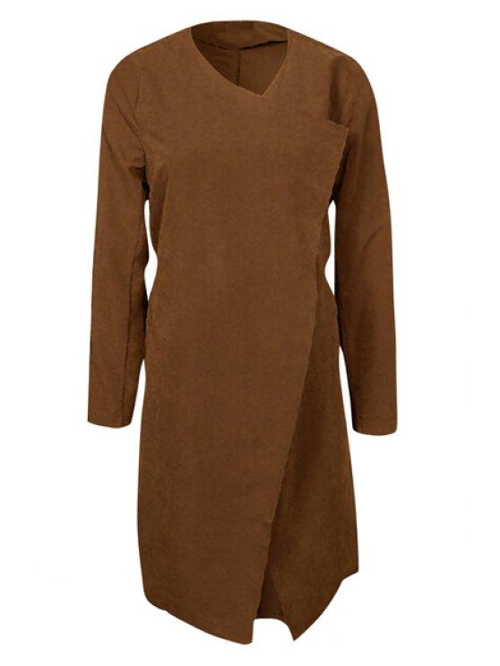 Manteau à fourreau à ceinture auto-cravate - Café S