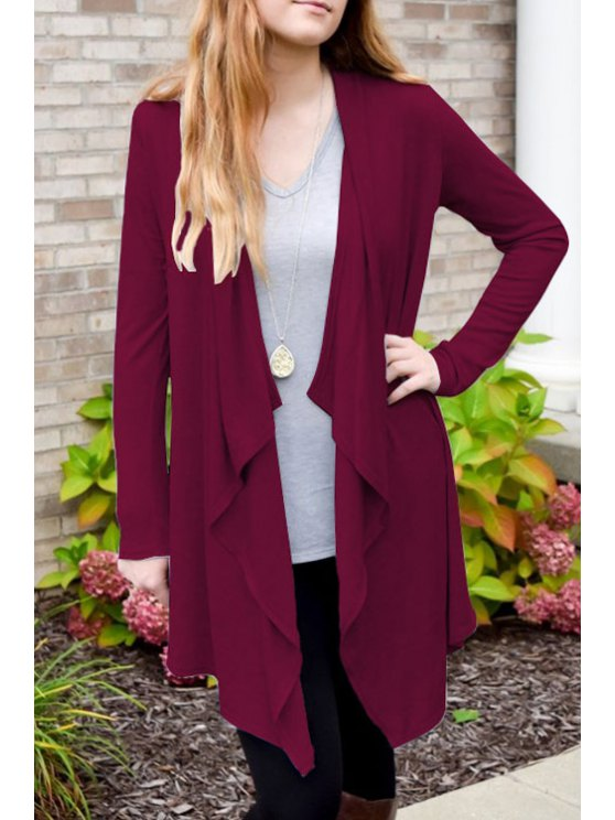 women's Solid Color Open Front Thin Coat - ROSE S