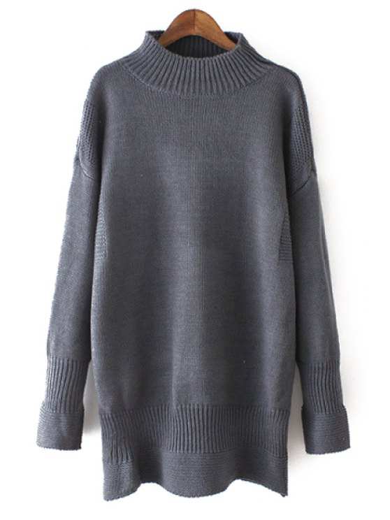 fancy Long Sleeve Pure Color Jumper - GRAY ONE SIZE(FIT SIZE XS TO M)