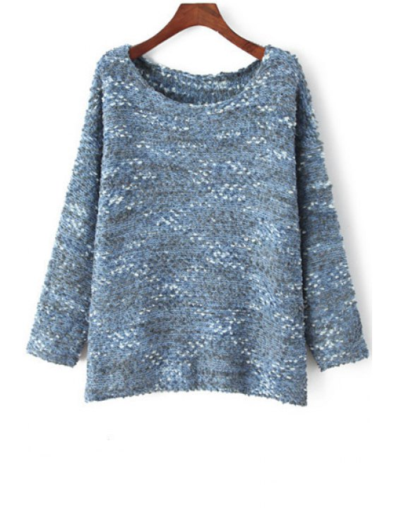 lady Multi Color Long Sleeve Jumper - BLUE ONE SIZE(FIT SIZE XS TO M)
