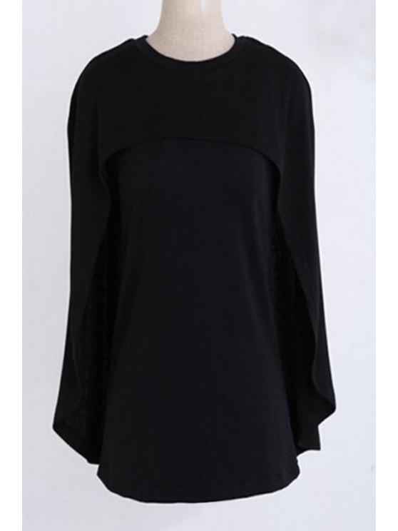 Jewel Cuello de diseño negro suéter - Negro M