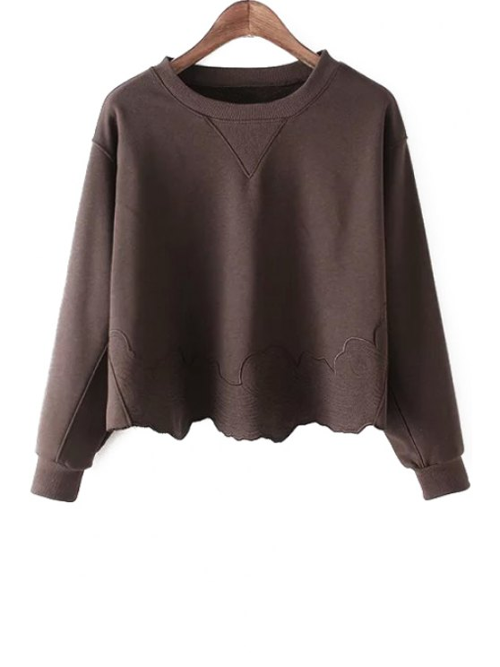 affordable Embroidered Long Sleeve T-Shirt - RED S