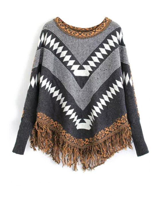 affordable Argyle Pattern Bat-Wing Sleeve Jumper - COLORMIX ONE SIZE(FIT SIZE XS TO M)