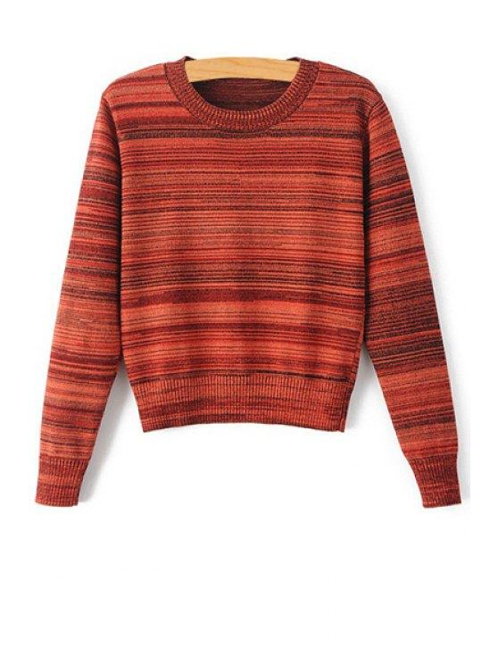 latest Stripes Jewel Neck Long Sleeve Jumper - JACINTH S