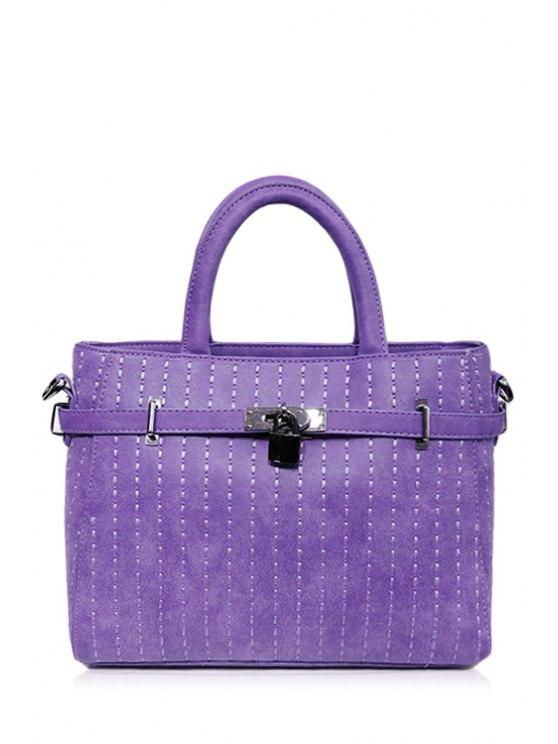 Cerrojo Costura Cinturón bolsa de asas - Púrpura