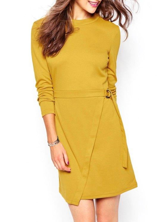 sale Ginger Round Neck Long Sleeve Dress - GINGER S
