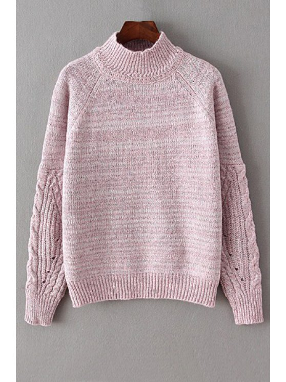 women's Jewel Neck Loose-Fitting Jumper - PINK ONE SIZE(FIT SIZE XS TO M)