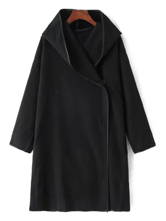 new Print Back Hooded Long Sleeve Coat - BLACK ONE SIZE(FIT SIZE XS TO M)