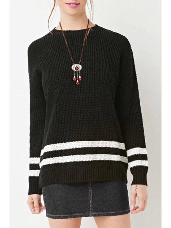 online White Striped Long Sleeve Jumper - BLACK S