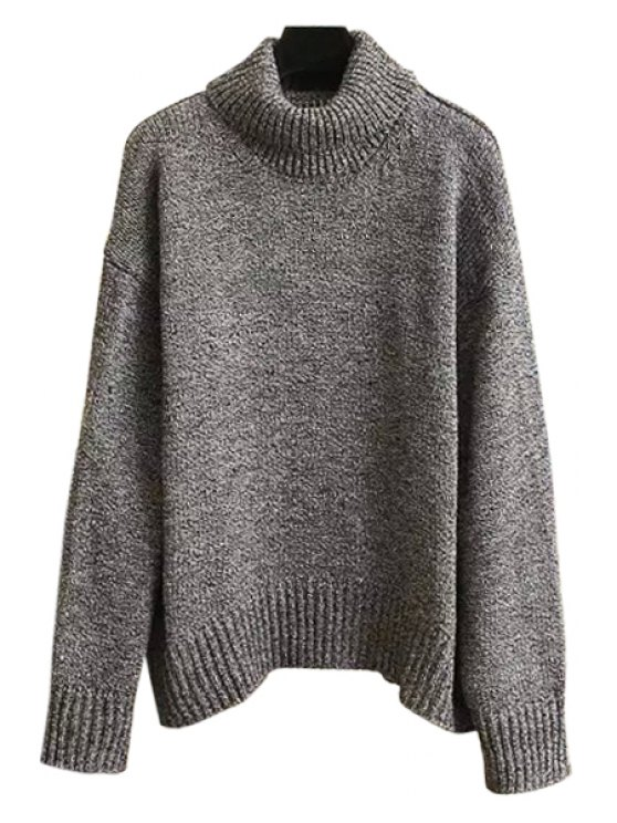 fancy Gray Turtle Neck Long Sleeves Jumper - GRAY ONE SIZE(FIT SIZE XS TO M)