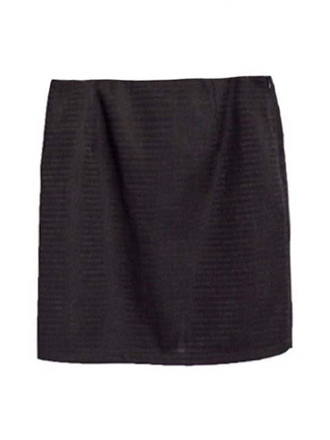 womens Pocket Design Front Slit Mini Skirt - BLACK S Mobile