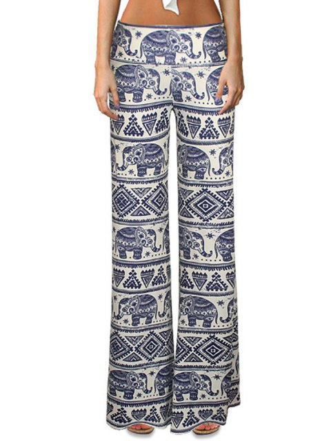 new Elephant Print Bell Bottoms - COLORMIX S Mobile