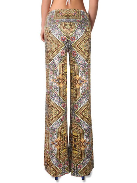 outfit High-Waisted Tribal Pattern Bell Bottoms - COLORMIX L Mobile