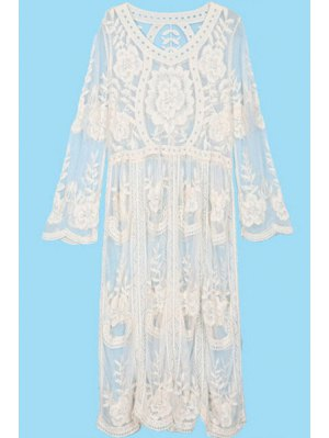 See-Through Embroidery Lace Dress