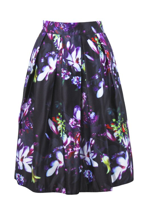high waisted floral ruffled skirt black skirts zaful
