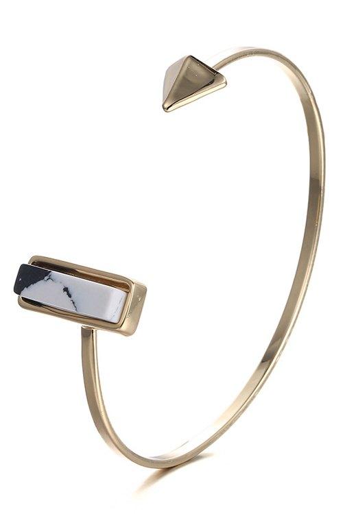 Geometric Cuff Bracelet For Women - GOLDEN