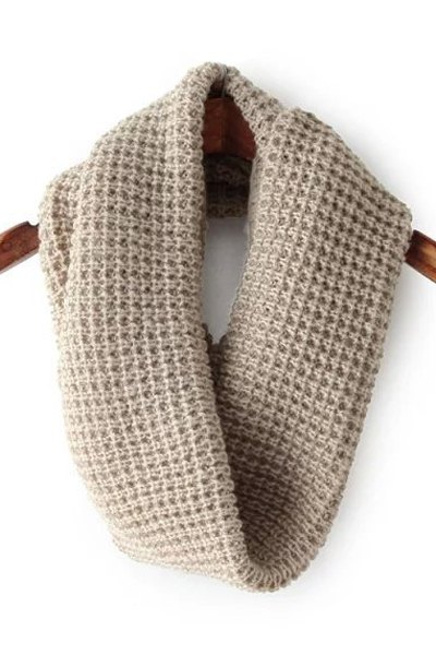 Solid Color Knitted Neck Warmer For Women