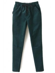 Solid Color Corduroy Women's Harem Pants