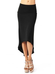 Packet Buttocks Solid Color Dovetail Skirt