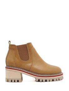 Buy Elastic Platform Pure Color Ankle Boots