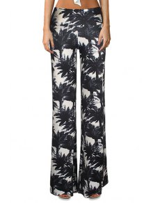 Tropical Print Flare Yoga Pants