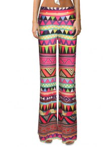 Triangle Pattern Flare Leg Pants - Xl