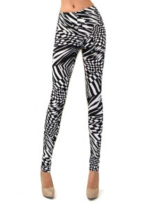 Abstract Print Skinny High Elasticity Pants