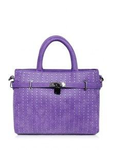 Hasp Stitching Belt Tote Bag