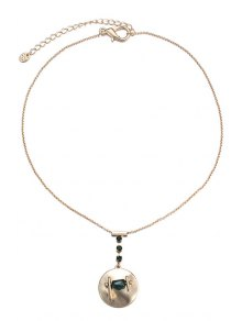 Rhinestone Round Pendant Necklace For Women
