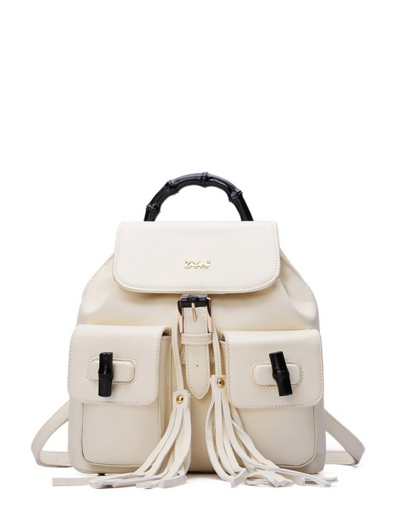 new Tassel Letter Buckle Satchel - OFF-WHITE