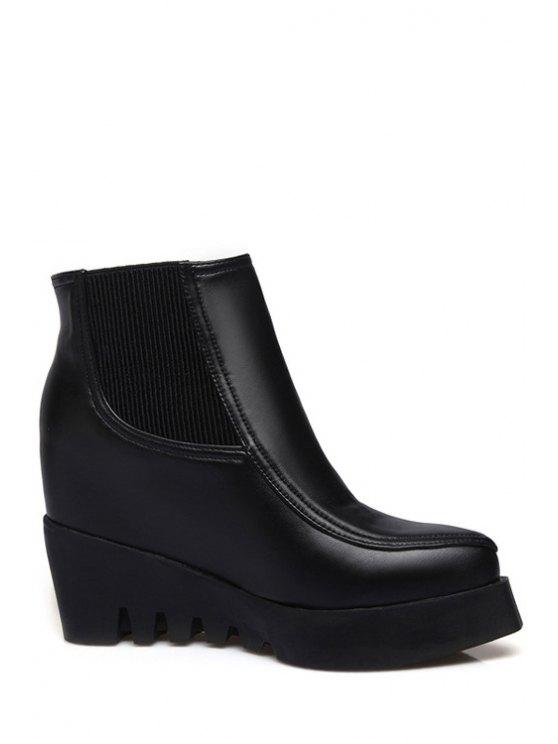 outfits Platform Elastic Black Short Boots - BLACK 34