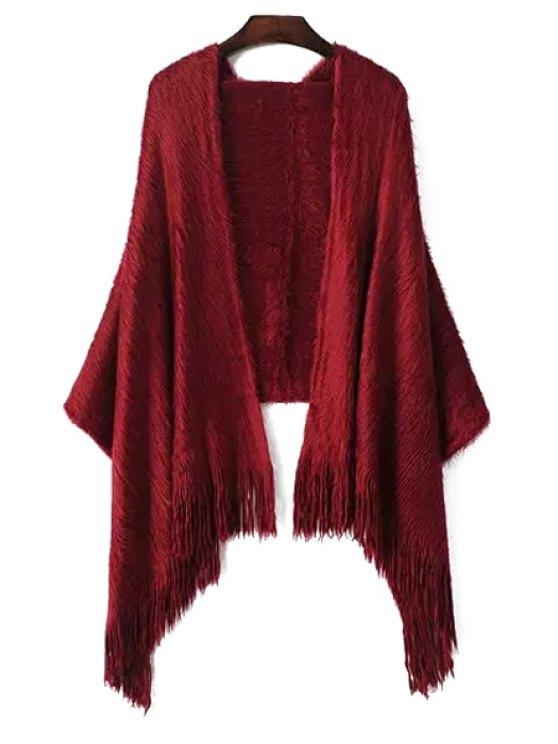 hot Tassel Mohair Pashmina - WINE RED
