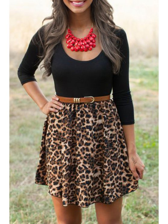 best Leopard Print Fit and Flare Dress - LEOPARD S