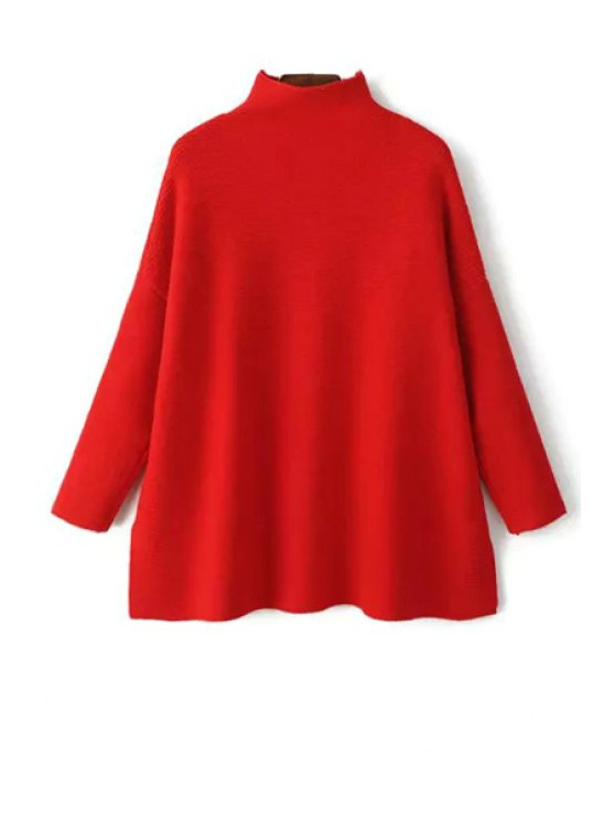 affordable Pure Color Stand Neck Loose Jumper - JACINTH ONE SIZE(FIT SIZE XS TO M)