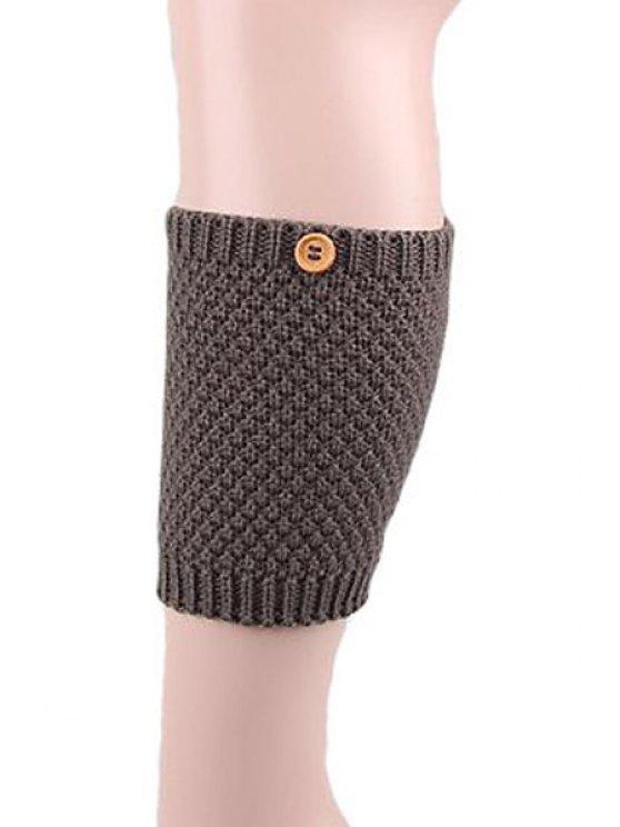 best Button Knitted Boot Cuffs - DEEP GRAY