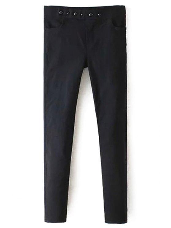 women Stylish Narrow Feet Black Women's Pants - BLACK M