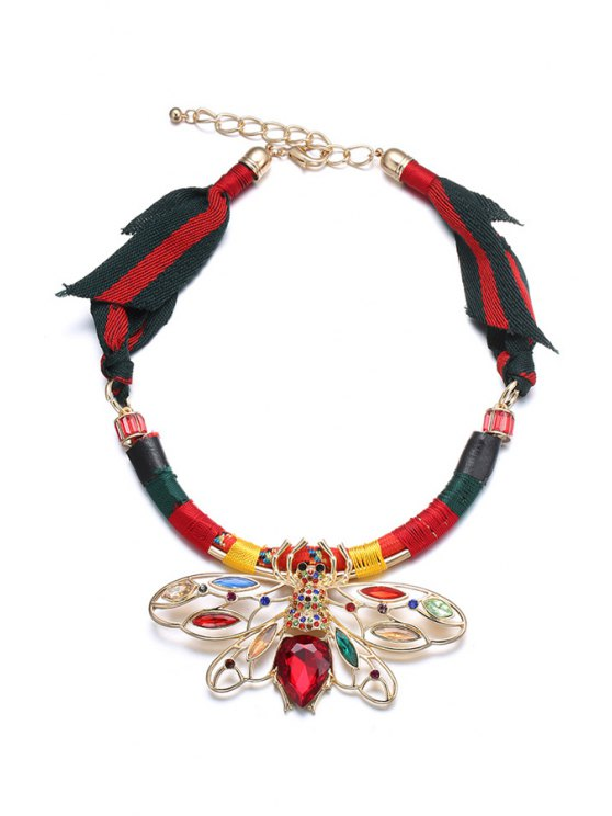 best Butterfly Pendant Chokers Necklace - RED