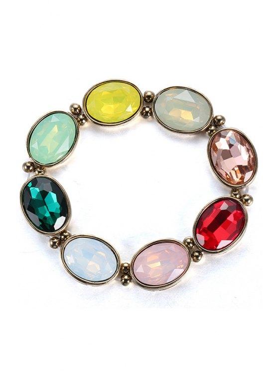 best Colorful Faux Crystal Jewelry Bracelet - COLORMIX