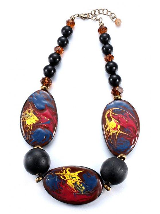 fashion Oil Drip Statement Necklace - COLORMIX