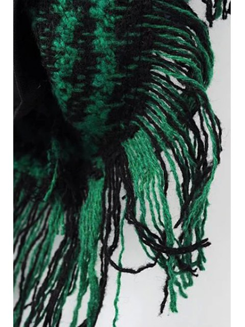 women's Houndstooth Jewel Neck 3/4 Sleeve Dress - GRAY M Mobile