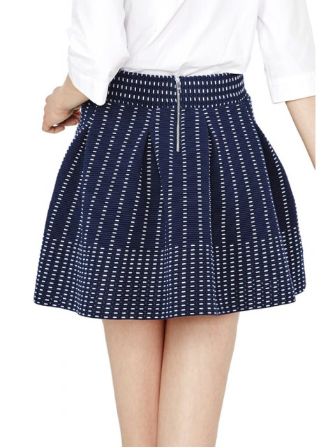 outfit Striped A Line Skirt - PURPLISH BLUE S Mobile