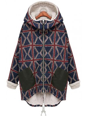 Hooded Fleece Lining Union Jack Coat