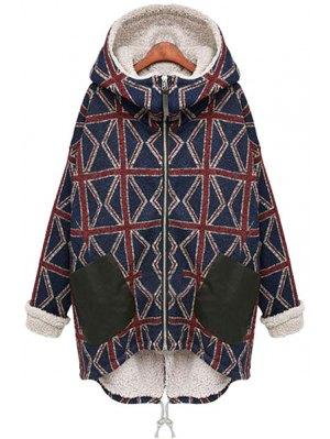 Hooded Fleece Lining Union Jack Coat
