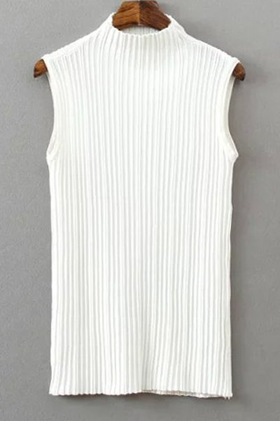 Pure Color Stand Neck Knit Tank Top от Zaful.com INT