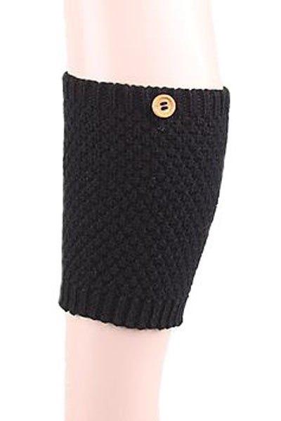 Button Knitted Boot Cuffs