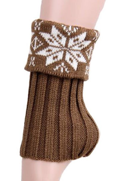 Christmas Snowflake Knitted Boot Cuffs
